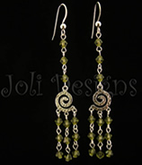 Cosmic Swirl Earrings- kahki