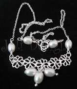 Signature fancy pearl necklace - rice pearls