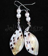 Antiquity gold foil Murano with pearls