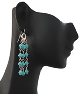 Haute Blue Moon Chandelier Earring