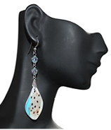 Antiquity gold foil turquoise Murano with crystals